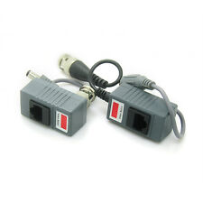 RJ45 Transceiver UTP Balun BNC Video DC Power Twisted Pair CAT5 For CCTV