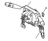 Com 2000 Com2005 com 2005 DELPHI commodo Peugeot 207 96623058 XT CITROEN C2
