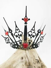 Queen of Hearts Crown - Evil Queen Tiara - Steampunk Crown - Gothic Tiara