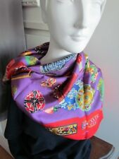 Silk Twill Ralph Luigi Easter Eggs Roses Scarf Print new Red  Excellent Lot