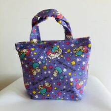 Little twin stars canvas handbag zip lunch box bag storage tote recycle bags