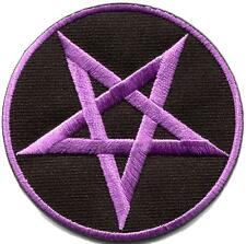 Pentagram pentacle satanic occult goth wicca witch applique iron-on patch S-1176