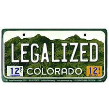 CS007 Colorado Legalized License Marijuana Weed Cannabis Color Bumper Sticker