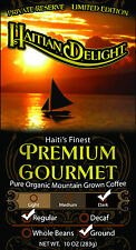 Haitian Delight, Mountain Grown, Organic, Dark Roast, Ground Coffee.  10 oz
