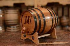 2 Liter | Custom Whiskey Barrel - Personalized Wine Barrel - Engraved Oak Barrel