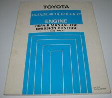Repair Manual Toyota Emission Control 2A 3A 2K 4K 1G-E 1S-L 2Y KP60 KE70 SV10!