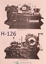 Hanson Whitney 10 x 24, Threadmill Setting Operations and Parts Manual 1977