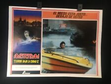 "1988 AMSTERDAMNED Huub Stapel Dick Maas Original Mexican Lobby Card 16""x12"""
