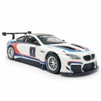 1:32 BMW M6 GT3 Rennauto Die Cast Modellauto Auto Spielzeug Model Sammlung Weiß