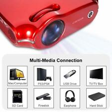 1080P HD Home Mini Portable Video Projector Compatible With PC Mac TV DVD iPhone