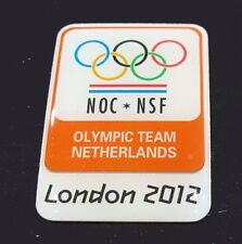LONDON  2012 SUMMER Olympic NETHERLANDS NOC TEAM DELEGATION pin  rare