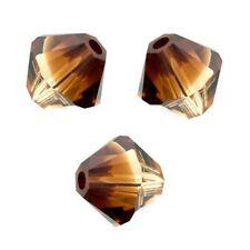 10 Perles Toupies 6mm  Swarovski TOPAZ BLEND  5328 XILION - Nouveauté