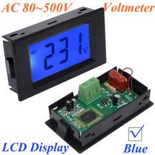 Digital Voltmeter Ac 80 500v Blue Lcd Alternating Voltage Digital Panel Meter