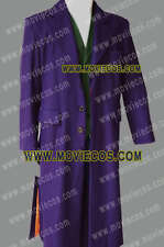 Movie Heath Ledger Joker Purple Trench Coat Costume * Well Tailor Made of Wool