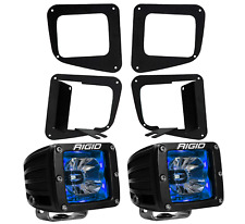 Rigid Radiance LED Fog Light Kit Blue Backlight for 14-17 Toyota Tundra 20201