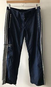 Adidas Y2k/2000 Style Cargo/joggers/trousers Navy Three Stripe/zips Size 12