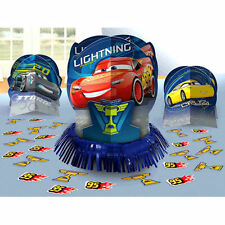 New Disney Cars 3 Birthday Party Centerpiece confetti Table Decor Kit