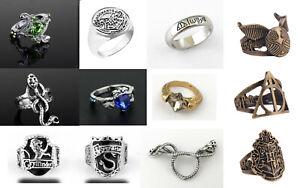 Potter Hogwarts Slytherin Gryffindor Ravenclaw House Lion Snake Ring & Gift Bag