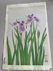 "Japanese Woodblock Print Uchida Art ""Ayame (  Iris ) ""  Flower Nizabro Ito"