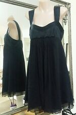 Wish little black dress.Sz10.Silk.Fully lined.Silk bodice & silk chiffon skirt.