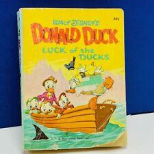 Little big Book 1969 Whitman vintage vtg Donald duck luck of better walt disney