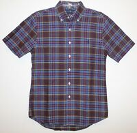 Polo Ralph Lauren Mens Blue Red Plaid Slim S/S Button-Front Shirt NWT Size S