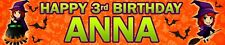 2 X WITCH PERSONALISED HALLOWEEN BIRTHDAY BANNERS