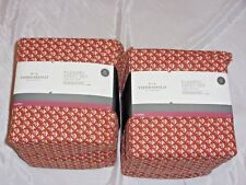 Lot of 2 New Threshold Cotton Full Flannel Sheet Sets