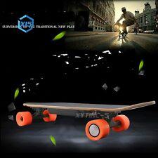 Electric Skateboard Longboard Skate Complete Deck Wireless Remote Control Black