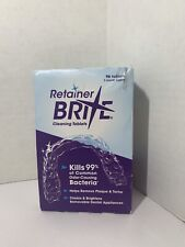 Retainer Brite Cleaning 96 Tablets 3 Months Supply New I Free Shipping