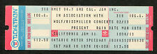 1978 California Jam II Concert Unused Ticket Heart Aerosmith Santana Foreigner