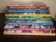 taste of  Home's Cooking Annual Recipes set of 7 2000-2006