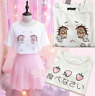 Harajuku Lolita Girls T shirt Strawberry Sakura Bloosm Kawaii Tops Mori Shirts