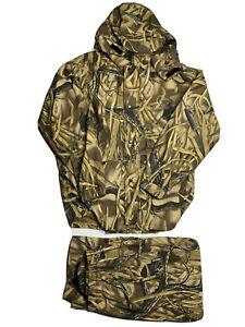 New Ducks Unlimited Wetlands Camo Hunting Jacket Pants Goretex Large XL