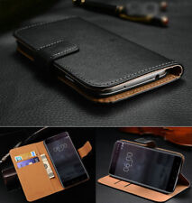 Premium Genuine Leather Flip Stand Wallet Case Cover for Nokia 3 / 5 / 6 / 8