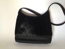 Relativity Black Pony Hair Small Shoulder Bag Purse 7.5 x 5 x 1.5