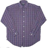 Polo Jeans Co Ralph Lauren Mens Button Up Check Shirt Size Medium