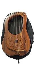 NUOVA LIRA HARP inciso Celtico Drago Gallese / LYRA legno di Sheesham