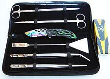 5 PC Aquarium Plants Landscaping Tools Kit PLUS FREE AS POCKET KNIFE 13660-7522