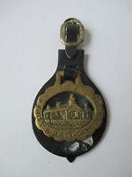Vintage Horse Brass on Leather (FIRST & LAST - LANDS END)