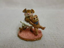Wee Forest Folk Dancing Bear Special Edition M-375 White Retired