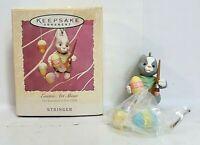 Hallmark Keepsake Ornament Easter Art Show Bunny Rabbit Painting Easter Eggs