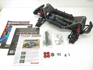 *BRAND NEW* Traxxas MAXX 4s 1/10 Roller Slider Chassis Red Version w/ Extras!