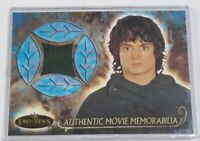 Frodo's Travel Cloak Lord of Rings Authentic Movie Memorabilia 2002 Topps Minty