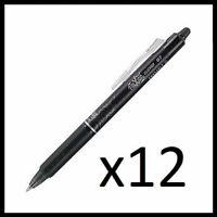 Pilot FriXion Ball Clicker 0.7 Retractable Erasable Ink Gel Pen,12ct Black