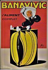 publicité Plaque métal publicitaire tôle 15x21cm bombée :BANAVIVIC