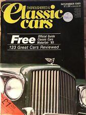 Thoroughbred & Classic Cars Magazine - November 1985