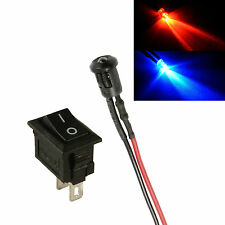 Alternative ROUGE ET BLEU PETIT 3mm LED interrupteur auto caravane Faux alarme