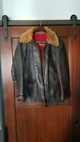 Vintage 40s 50s Sears Hercules Horsehide Leather Aviator Bomber Jacket