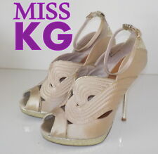 """Fabulous""""MISS KG"""" KURT GEIGER Satin  Leather Sandals Shoes  UK 5   EU 38  £95"""